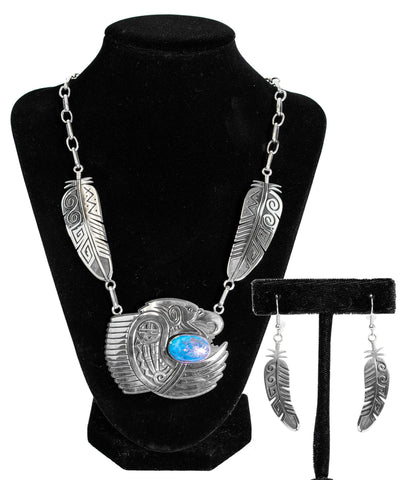 """Eagles Nest"" Necklace & Earring Set by Ruben Saufkie"