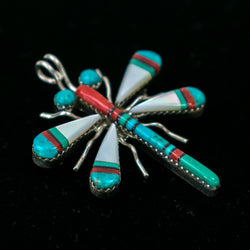 Multistone Dragonfly Pin by Wayne Haloo