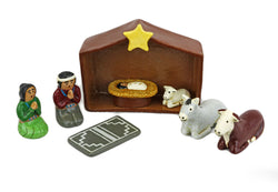 Folk Art Eight Piece Nativity Set