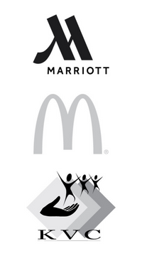 Image of client logos from Marriott, McDonald's, and KVC Behavioral Health.