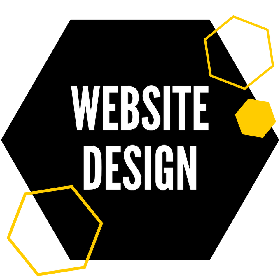 Image of website design hexagon.