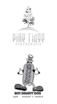 Image of client logos from Pine Ridge Partnership and Hot Diggity Dog.