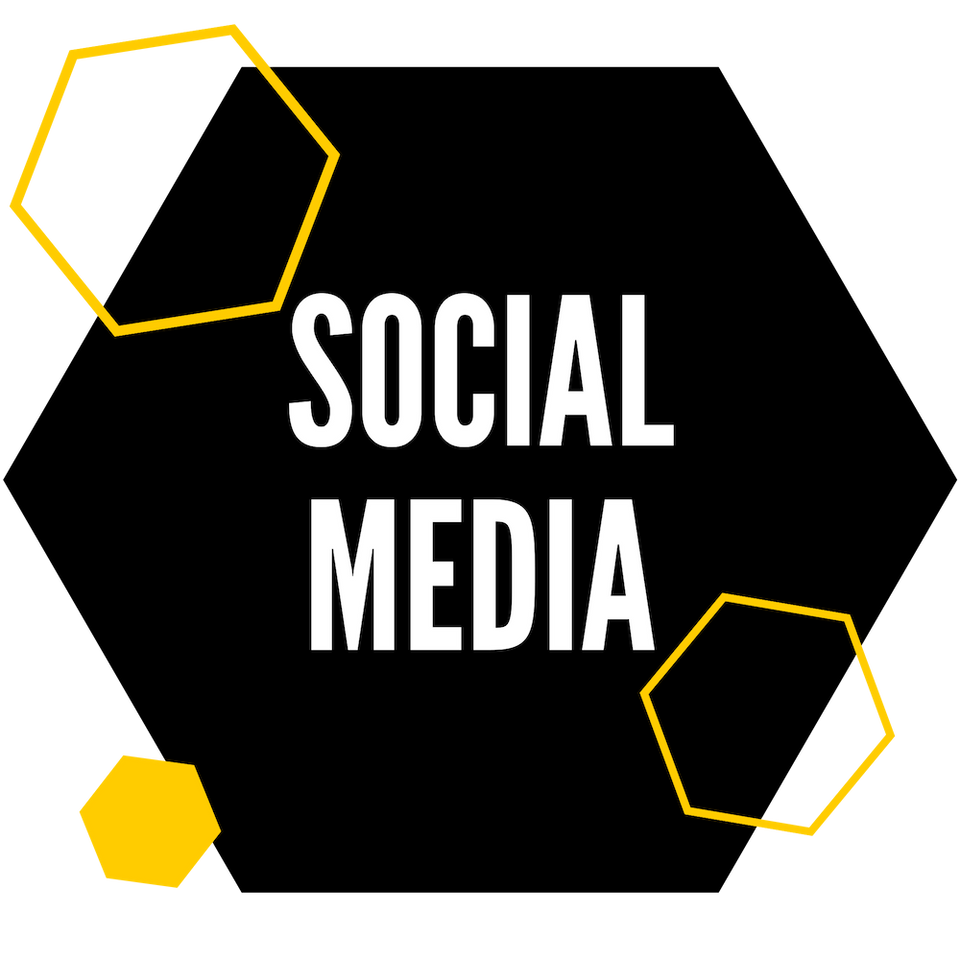 Image of social media hexagon.