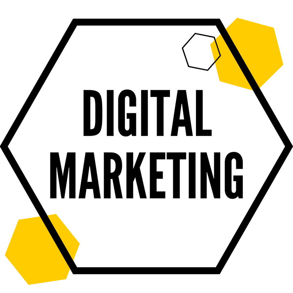 Image of digital marketing hexagon.
