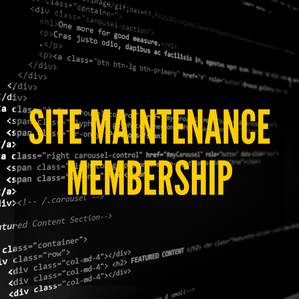 Image of Site Maintenance Membership services.
