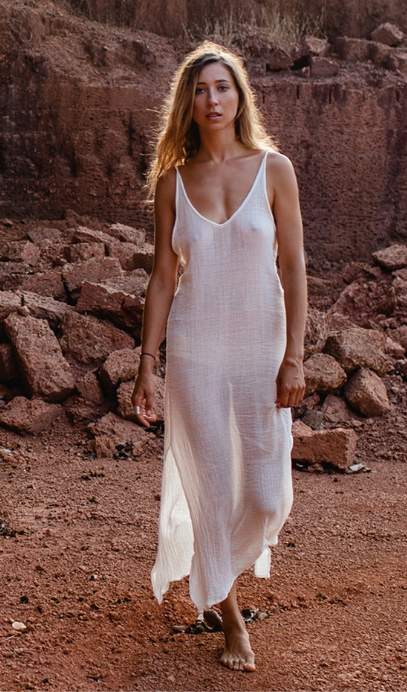 Gigi Slip Dress-Sand