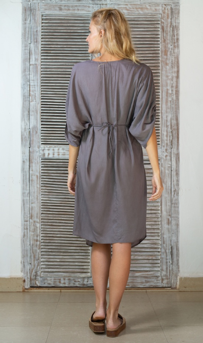 Kaya Twist Dress-Zinc