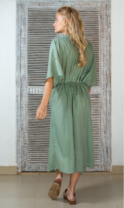 Mila Twist Maxi Dress- Sea Mist