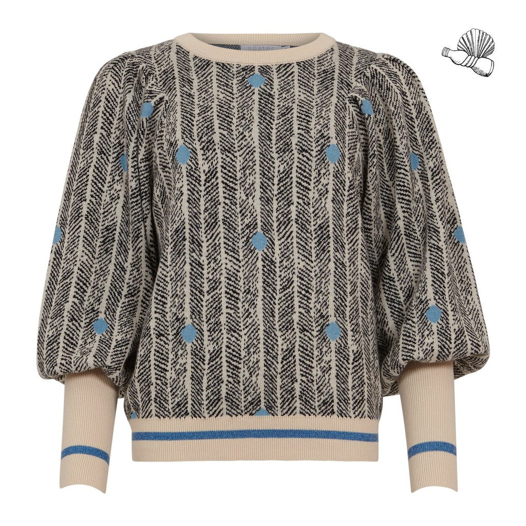 Sweater in sprout jacquard - Seawool