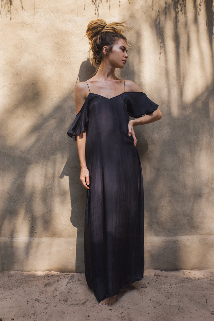 Wing Maxi Dress • Black