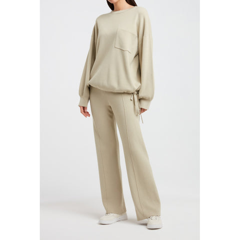 Knitted wide leg pants