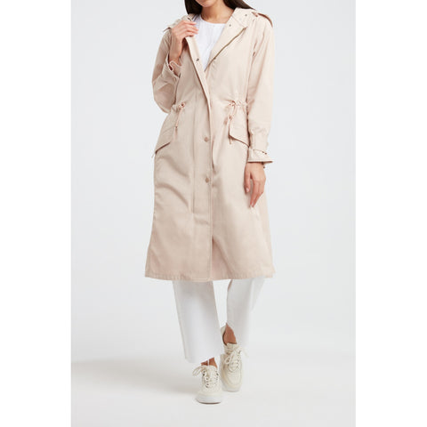 Long cotton parka jacket