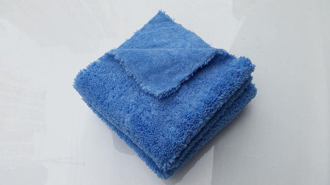 "16"" x 16"" Dual Pile 450gsm Light Blue Korean Microfibre Edgeless Car Detailing Cloth"
