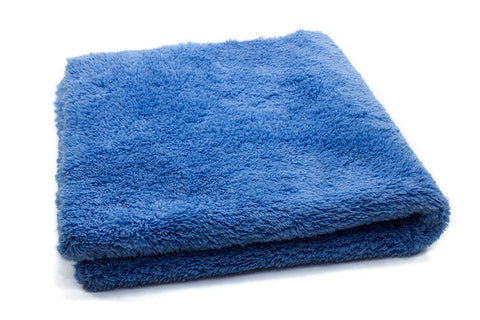 "16"" x 16"" Super Plush 470gsm Blue Microfibre Edgeless Korean Car Detailing Cloth"