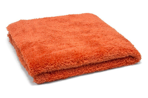 "16"" x 16"" Super Plush 470gsm Orange Microfibre Edgeless Korean Car Detailing Cloth"