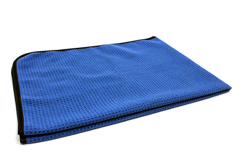 "25"" x 36"" Super Absorbent Blue Korean Microfibre Waffle Weave Car Drying Towel"