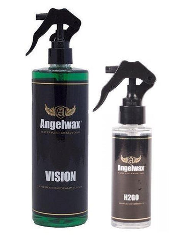 Angelwax Vision 500ml & H2GO 250ml Glass Care Bundle, Clean and Protect