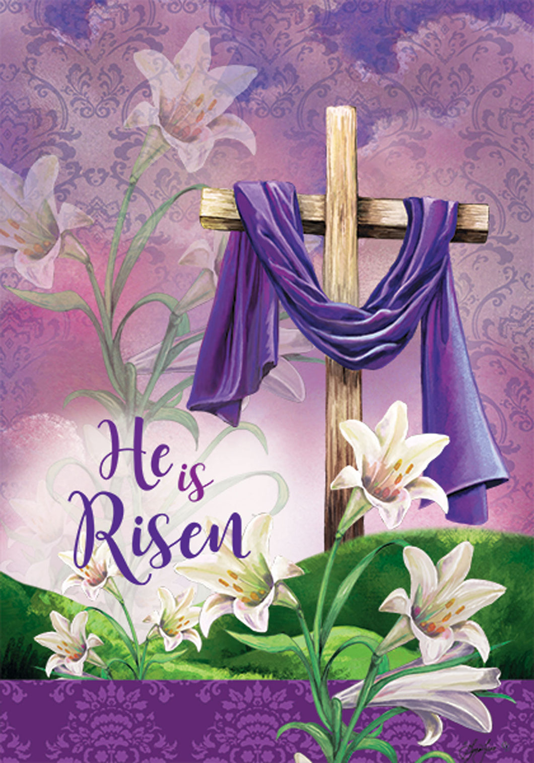 He is Risen-Flag by Gina Jane