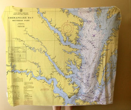 Chesapeake Bay Fleece Blanket
