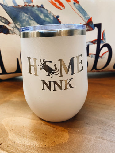 Home NNK Insulated Wine Tumbler - White