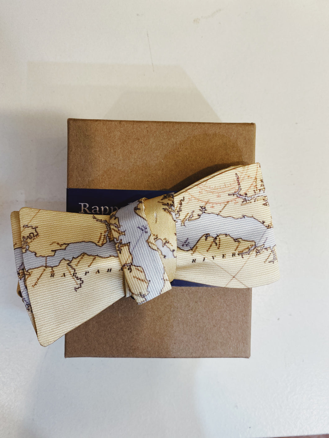 River Map Men's Bow Tie