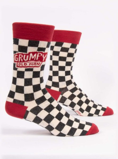 Grumpy Old Man Guy Men's Crew Socks