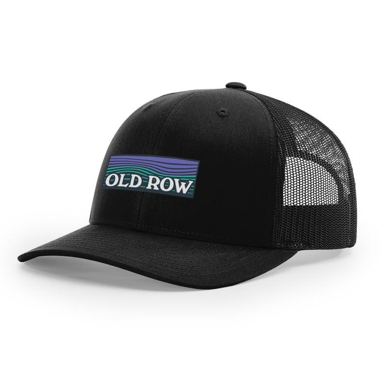 Old Row Waves Mesh Back Hat - Black