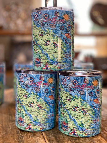 The Rivah Map Tumbler