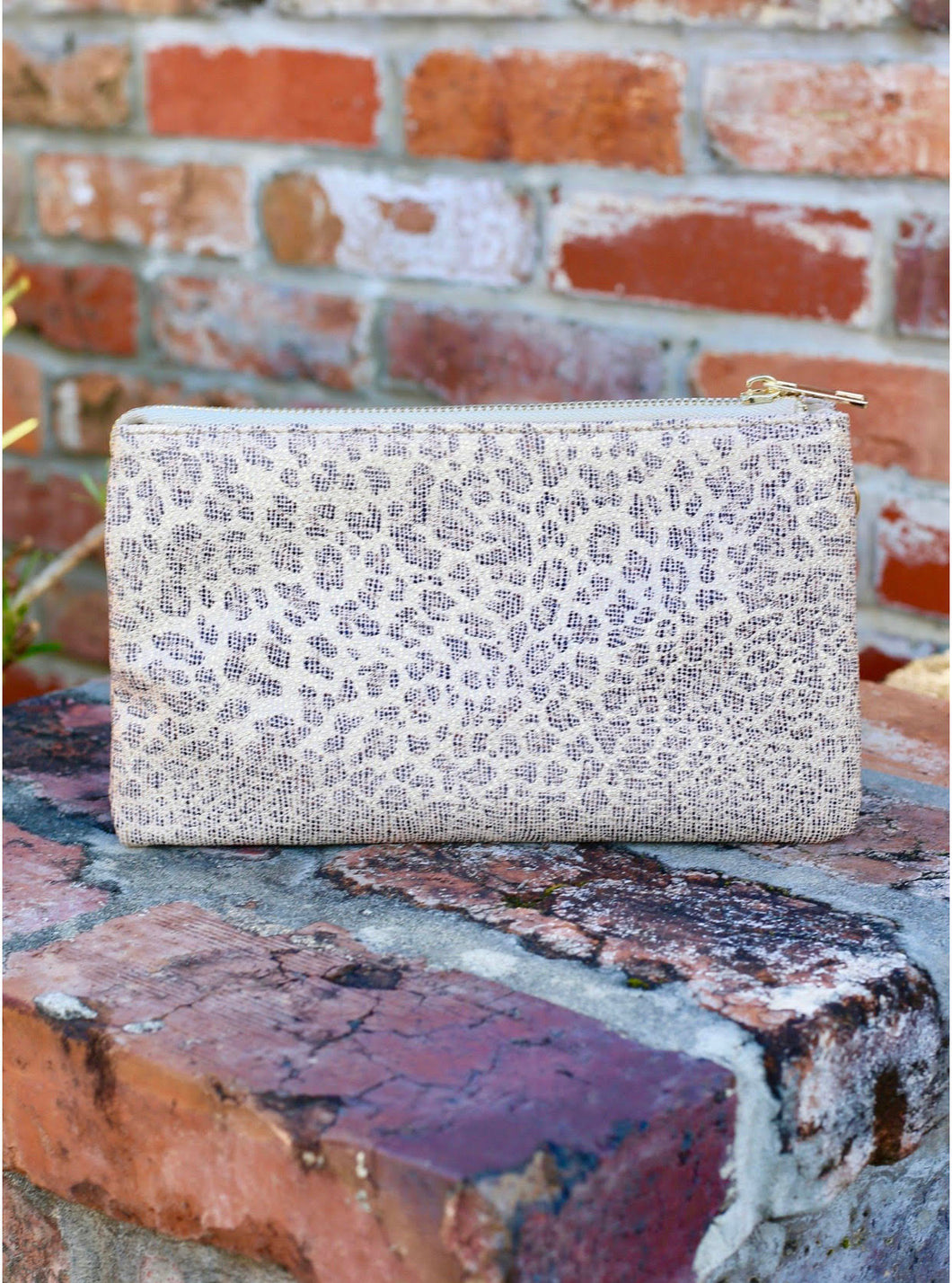 Liz Crossbody - Metallic Tan Leopard