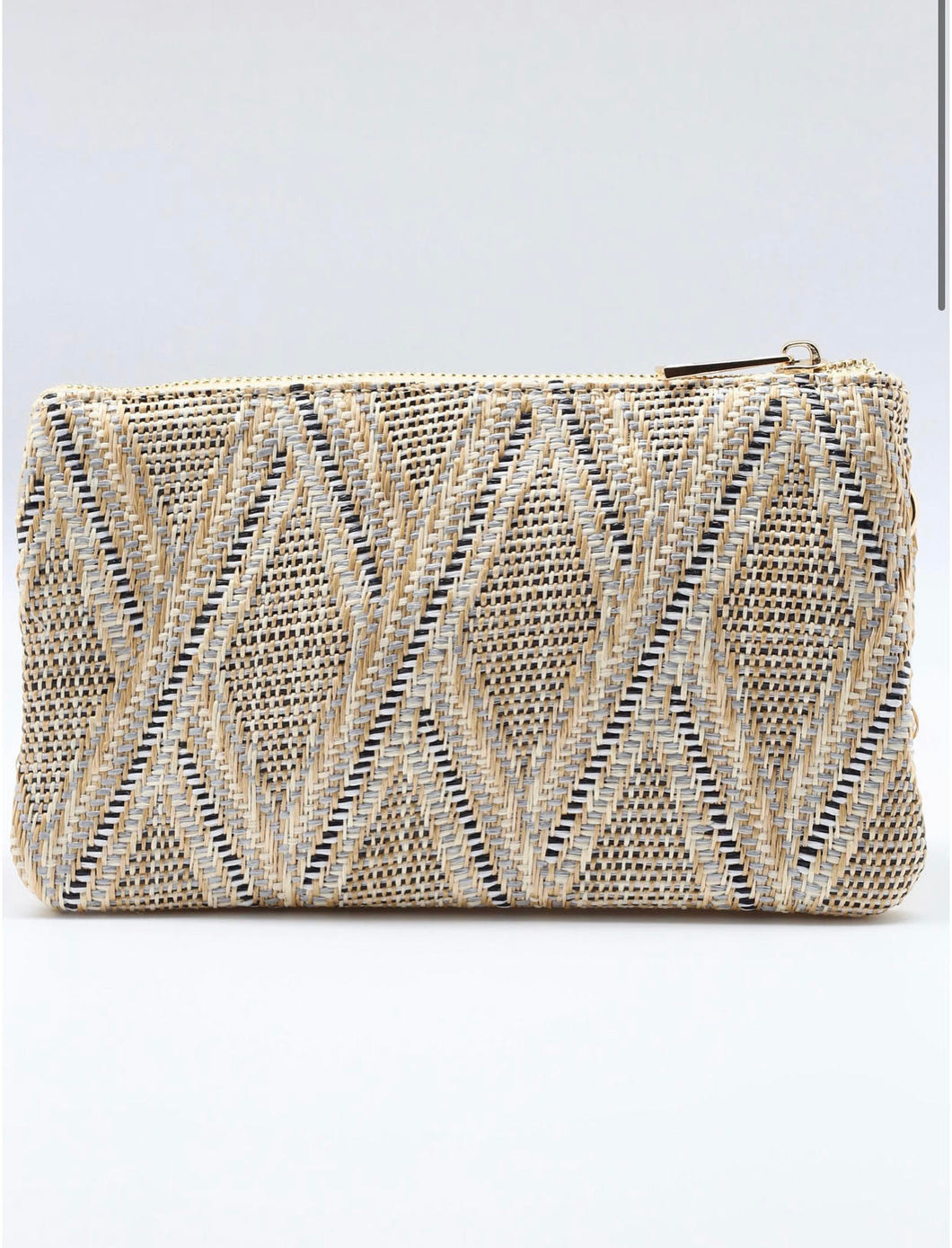 Liz Straw Crossbody - Neutral Lattice