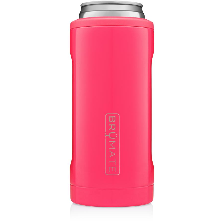BruMate Hopsulator Slim Can (12 oz) - Neon Pink