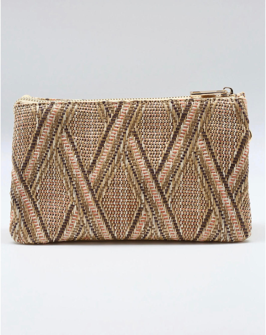 Liz Straw Crossbody - Rust Lattice