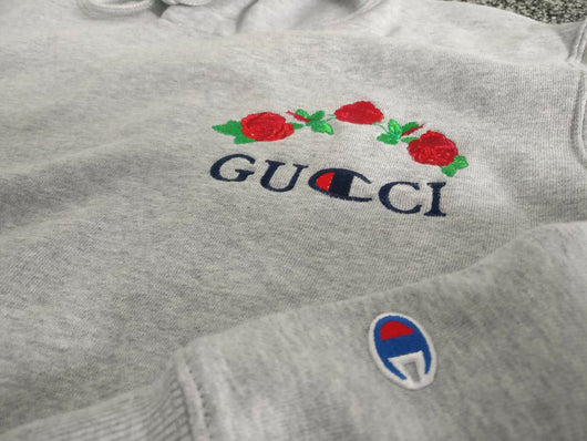 ava nirui gucci x champion hoodie sale levetements