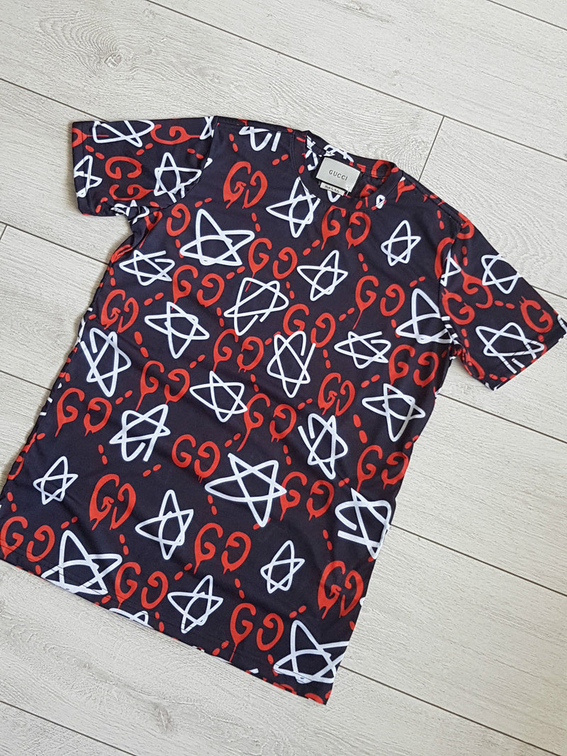 290f2775 Gucci Ghost Star t-shirt GG