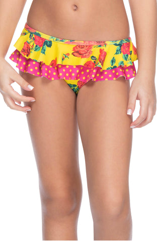 BRIGHT GARDEN GIRL'S RUFFLED BOTTOM