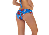 WIDE WAISTLINE RED BLOOM BOTTOM