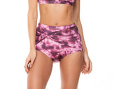 KNOTTED FRONT WIDE WAISTLINE TIE DYE BOTTOM