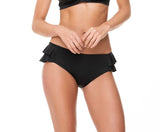 RUFFLED SIDES BLACK BOTTOM