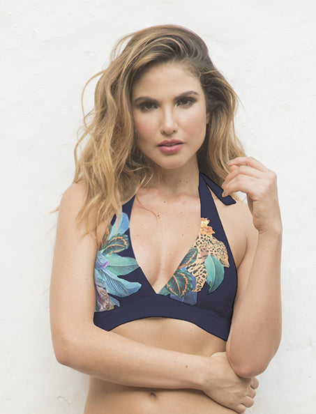 Amazon Midnight localized print 2020 high summer collection  Halter Top