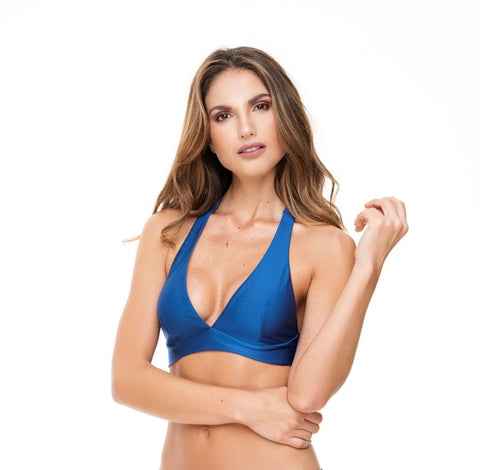 HALTER BLUE TOP