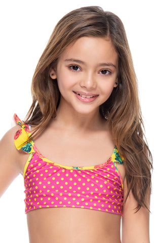 BRIGHT GARDEN GIRL'S TOP
