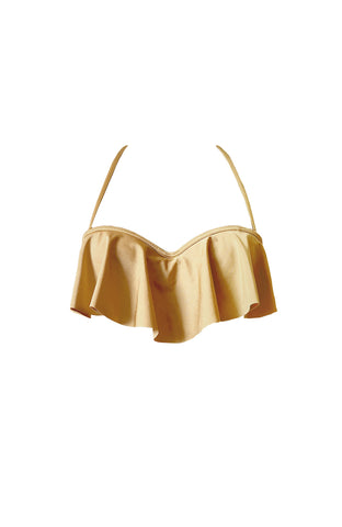 GOLDEN RUFFLED TOP