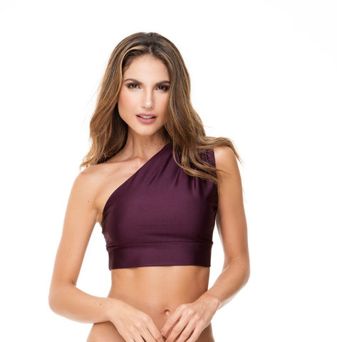 ONE SHOULDER GRAPE TOP
