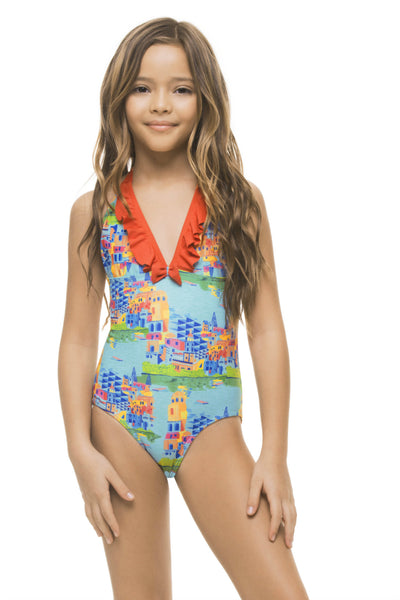 BOATTRIP GIRLS' HALTER ONE PIECE