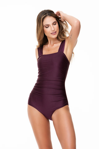 DRAPING GRAPE ONE PIECE