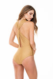 TWIST STRAPS GOLD ONE PIECE