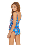 RED BLOOM GIRL ONE PIECE