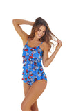 RUFFLED RED BLOOM ONE PIECE