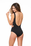 DRAPING BLACK ONE PIECE