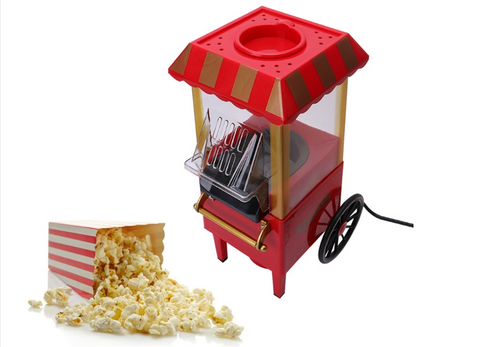 This Popcorn Machine Is A Replica Of The Old Fashioned, Street Corner  Popcorn Stand Of The Early 1900´s. This Convenient Tabletop Size Electric  Popper Uses ...